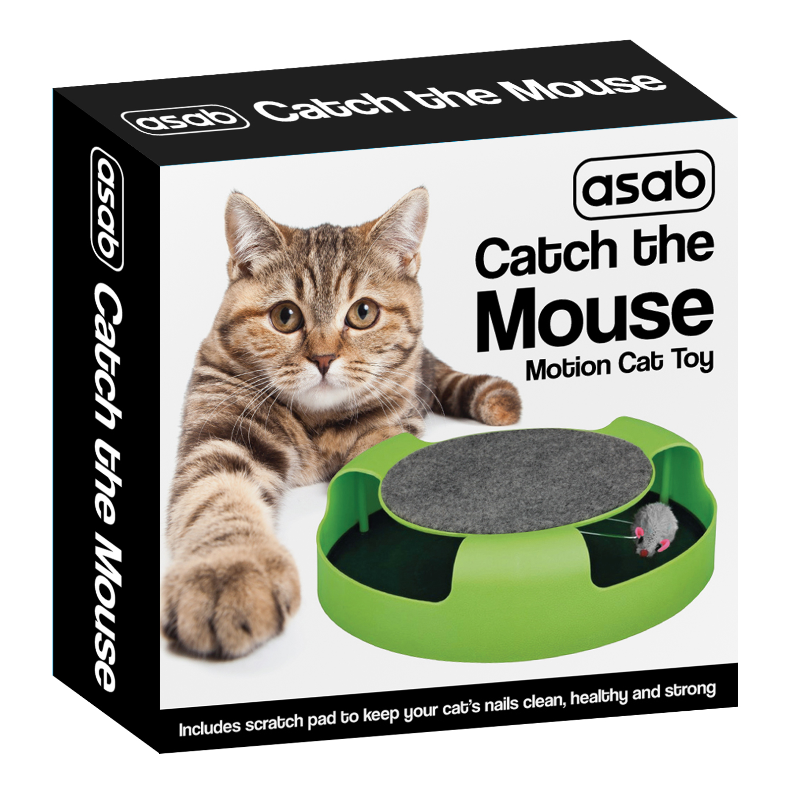 Catch The Mouse Motion Cat Toy With Scratch Pad Asab